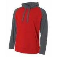 A4 N4234 Fleece Sweatshirts - Men's Color Block Tech Fleece Hoodie