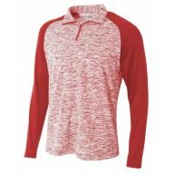 A4 N4249 Sweatshirts - Adult Space-Dye 1/4 Zip with Contrast Sleeve