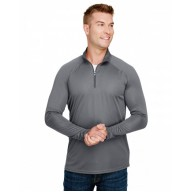 A4 N4268 Sweatshirts - Adult Daily Polyester 1/4 Zip