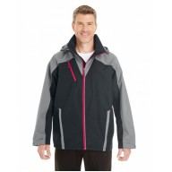 North End NE700 Jackets - Men's Embark Interactive Colorblock Shell with Reflective Printed Panels