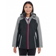 North End NE700W Jackets  - Ladies' Embark Interactive Colorblock Shell with Reflective Printed Panels