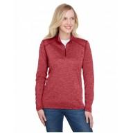 A4 NW4010 Sweatshirts - Ladies' Tonal Space-Dye Quarter-Zip