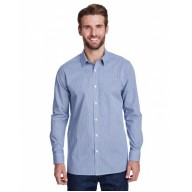 Artisan Collection by Reprime RP220 Shirts - Men's Microcheck Gingham Long-Sleeve Cotton Shirt