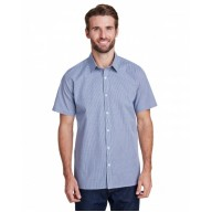 Artisan Collection by Reprime RP221 Shirts - Mens Microcheck Gingham Short-Sleeve Cotton Shirt