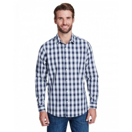 Artisan Collection by Reprime RP250 Shirts - Men's Mulligan Check Long-Sleeve Cotton Shirt