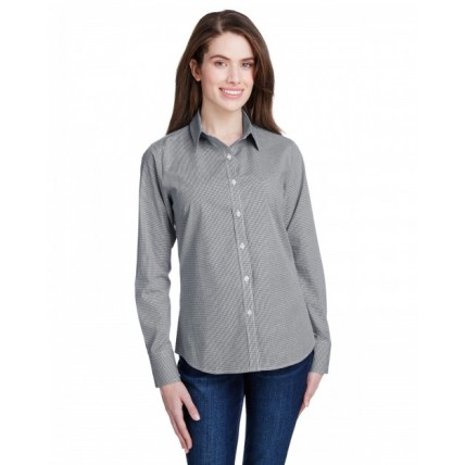Artisan Collection by Reprime RP320 Shirts - Ladies' Microcheck Gingham Long-Sleeve Cotton Shirt