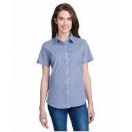 Artisan Collection by Reprime RP321 Shirts - Ladies' Microcheck Gingham Short-Sleeve Cotton Shirt